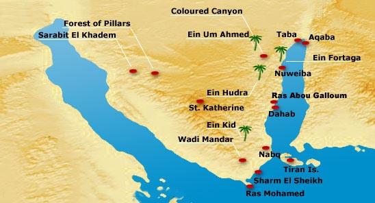 Bedouin Safari Dahab Egypt Sinai - Map of egypt dahab